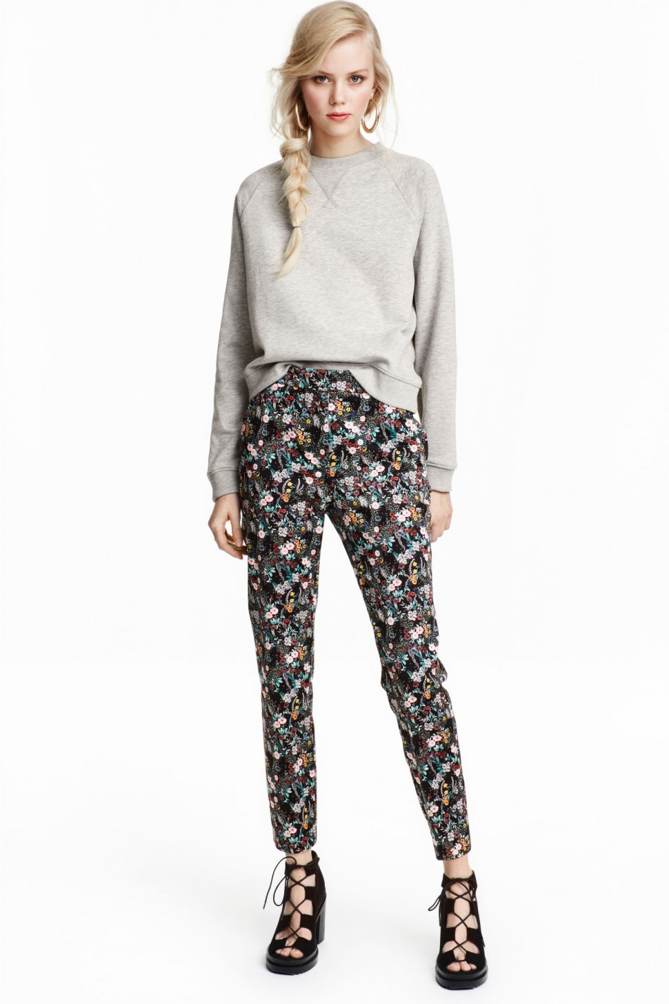 Цветочные брюки