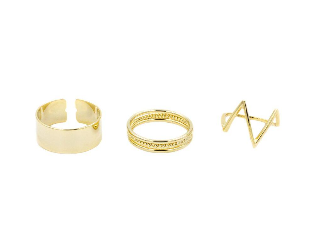Золотые кольца на фаланги пальцев