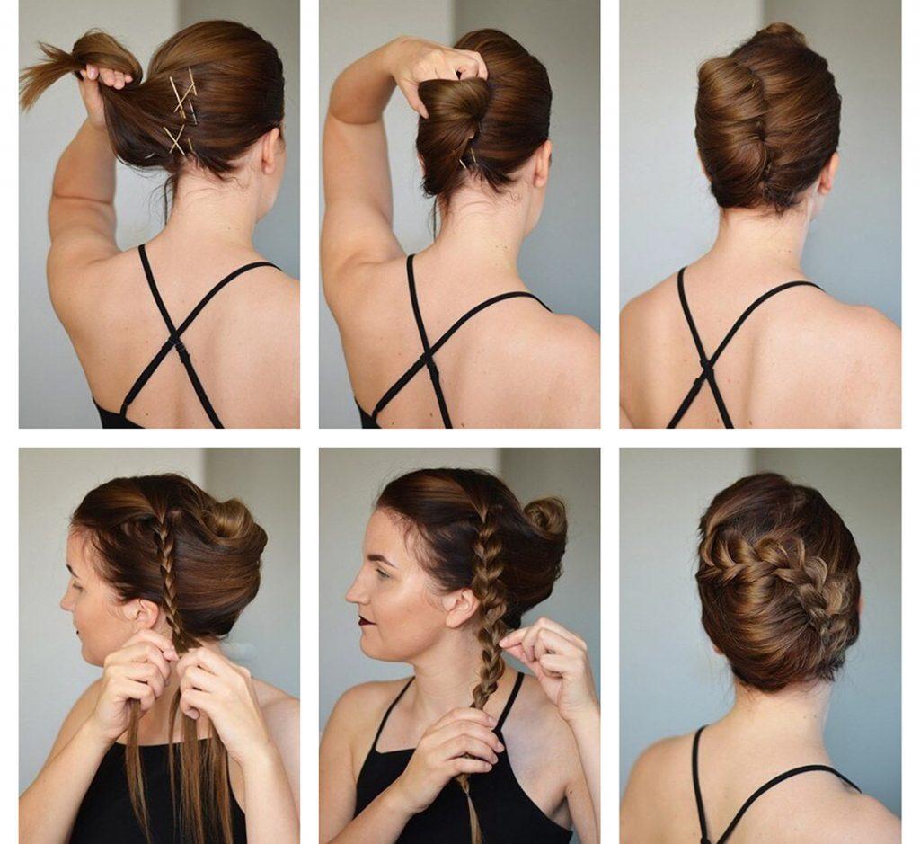 Прическа своими руками на средние волосы ракушка