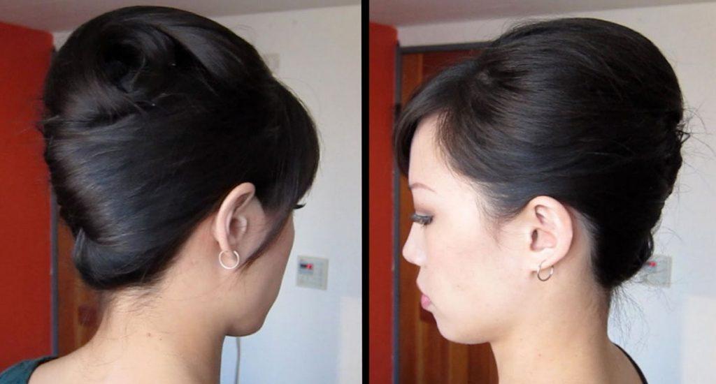 Элегантная ракушка на черные волосы