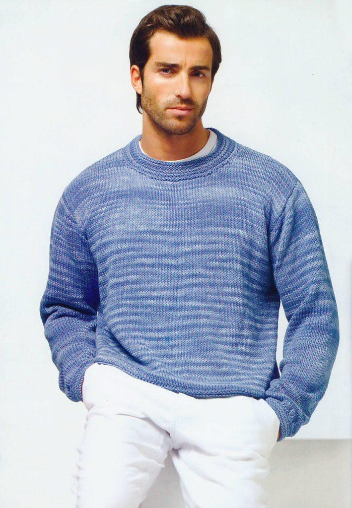 Синий мужской свитер