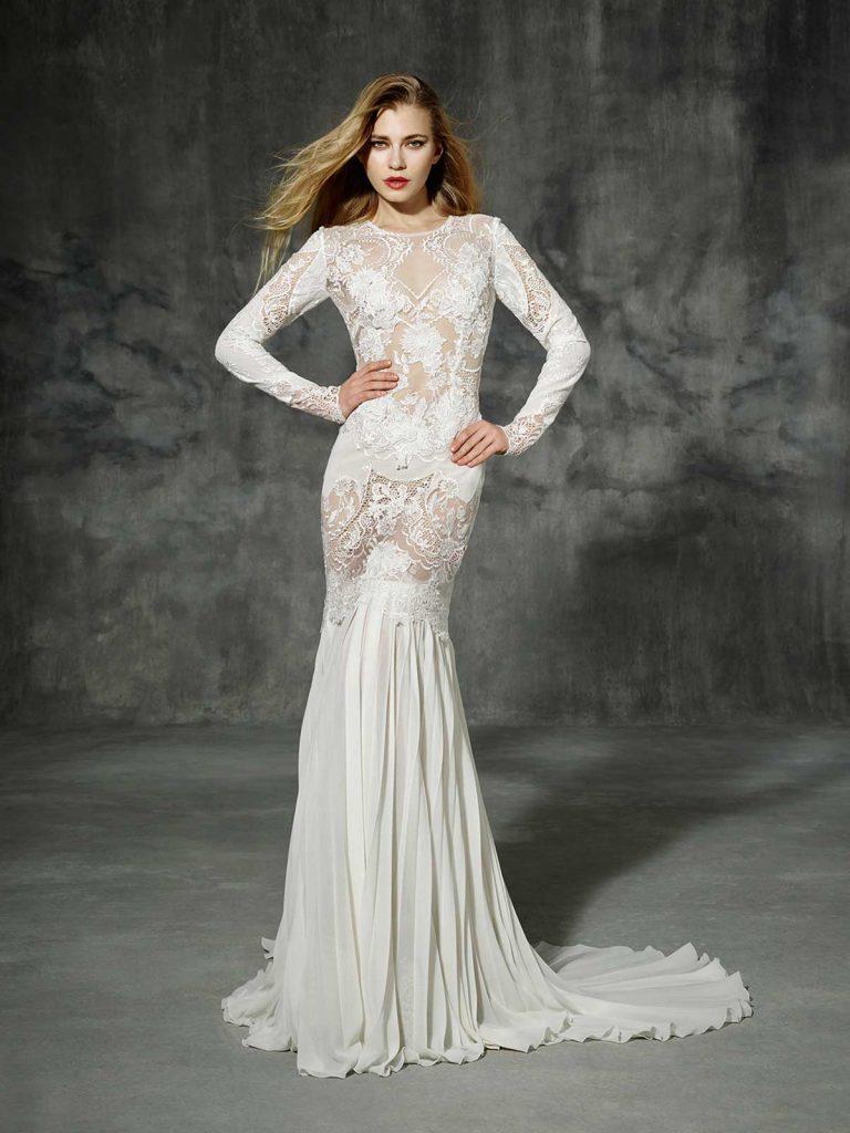 Полупрозрачное длинное винтажное свадебное платье