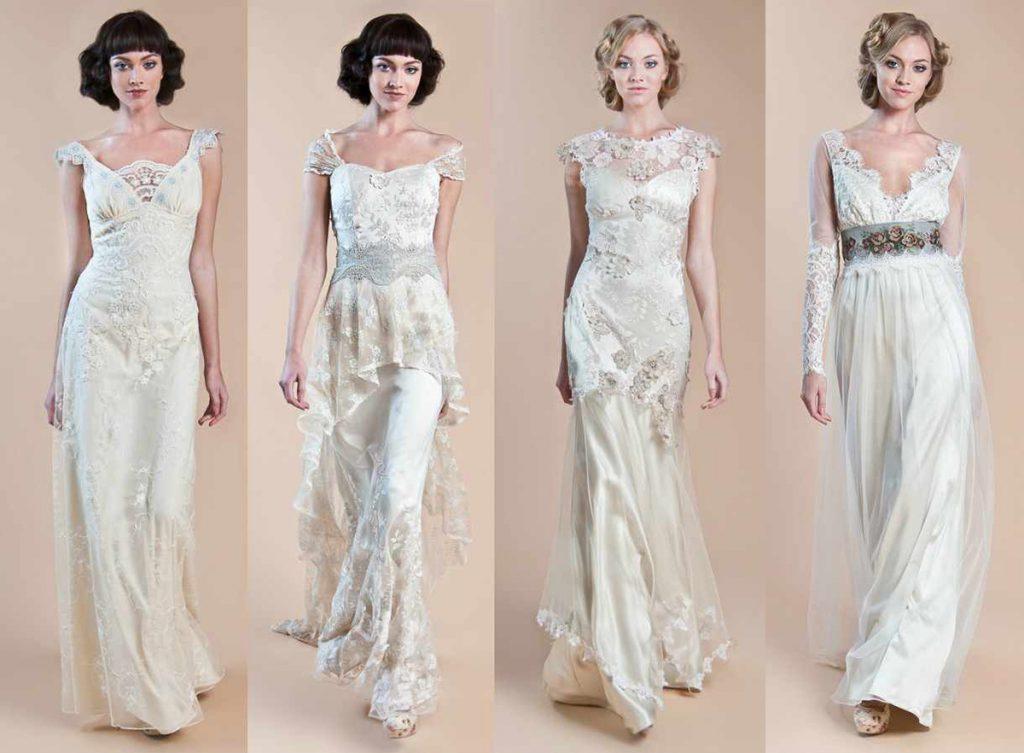 Варианты свадебных винтажных платьев