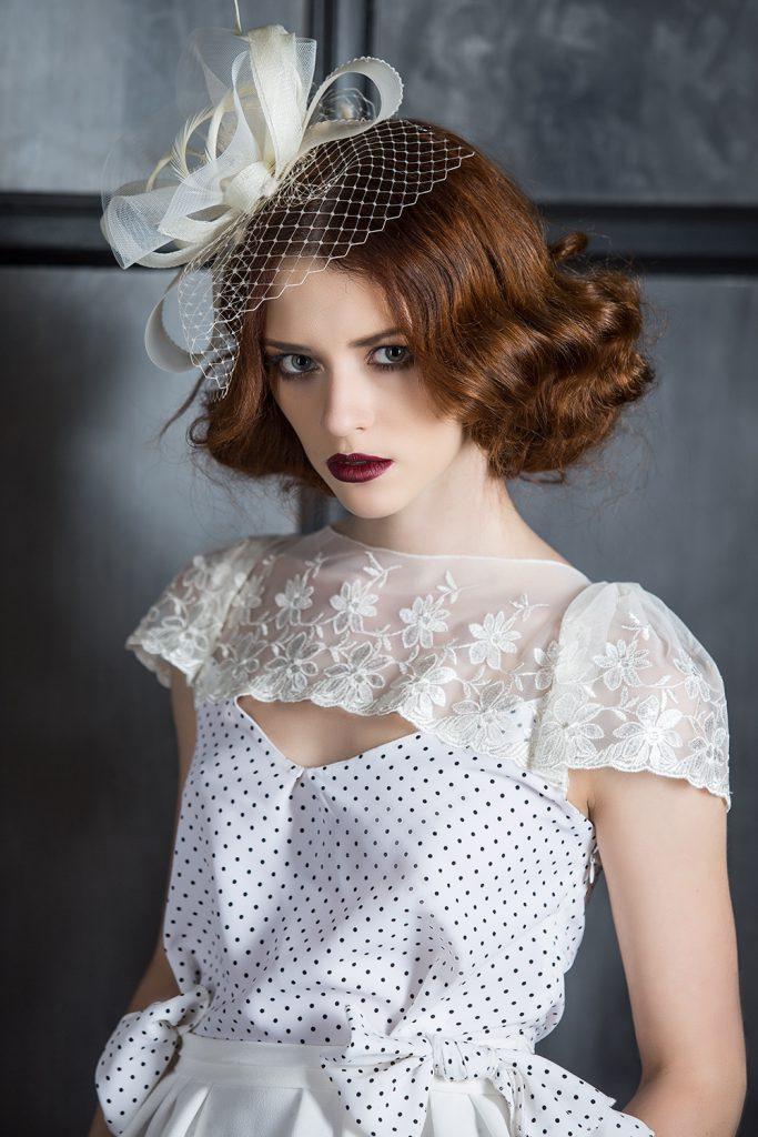 Смешение винтажных стилей в дизайне свадебного платья
