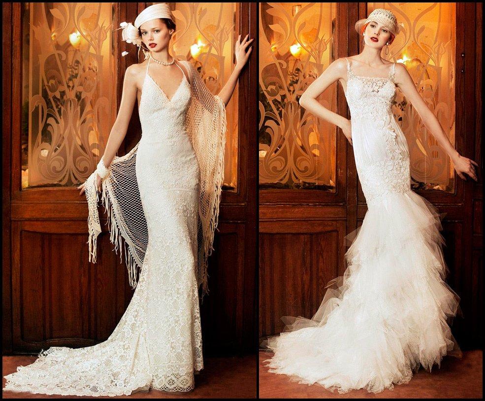 Элегантные винтажные свадебные платья