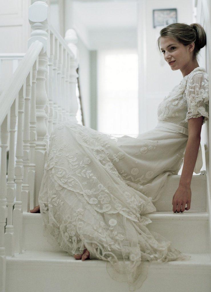 Красивое свадебное платье в стиле винтаж