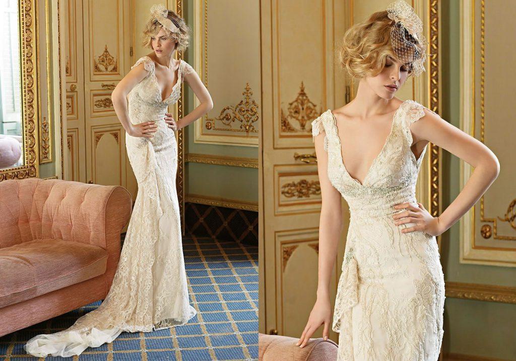 Красивое винтажное свадебное платье