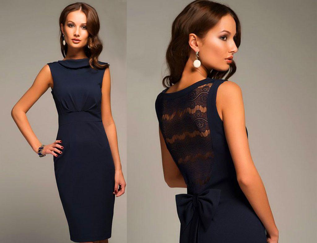 Модные модели платьев со вставками