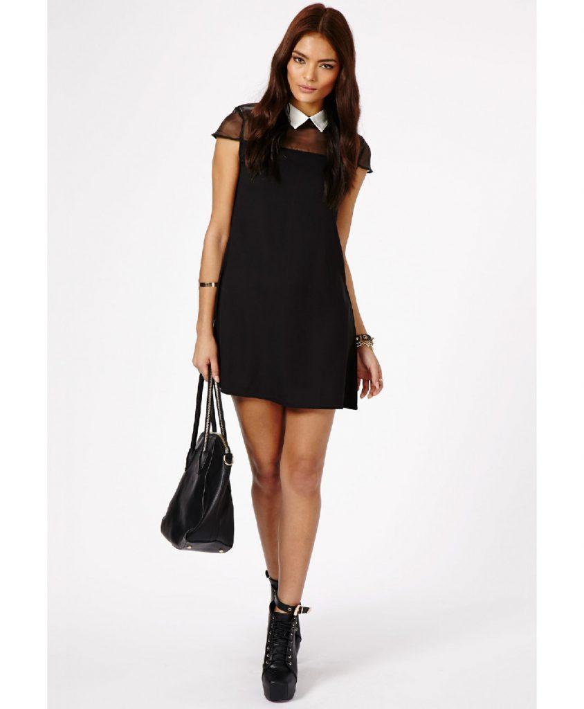 Черное винтажное платье для выпускного бала