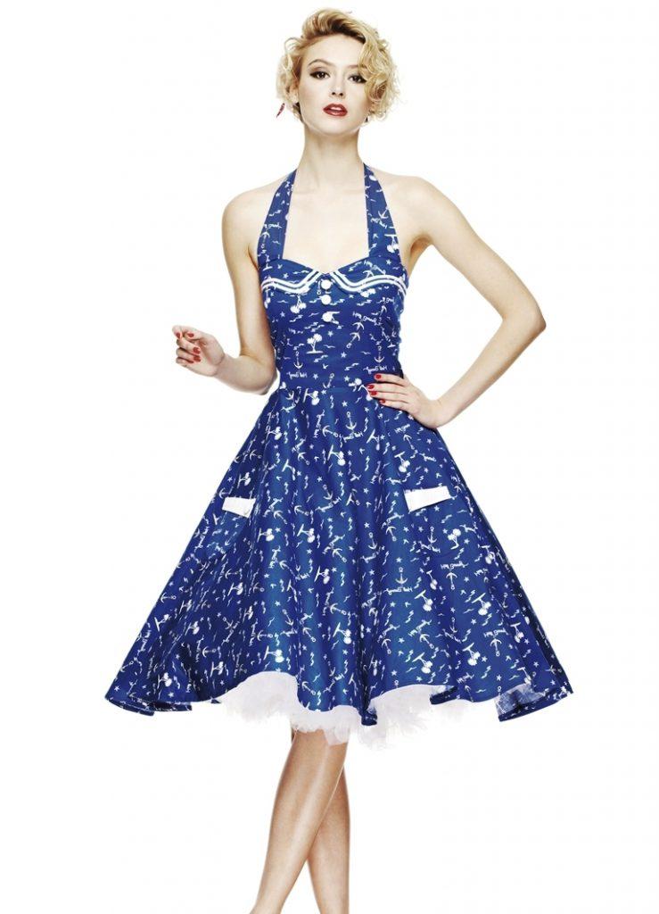 Эффектное винтажное платье 50 годов
