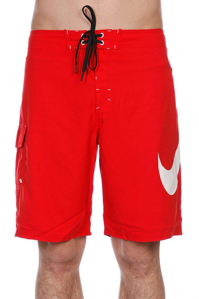 Красные пляжные мужские шорты
