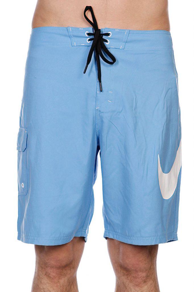 Голубые пляжные мужские шорты