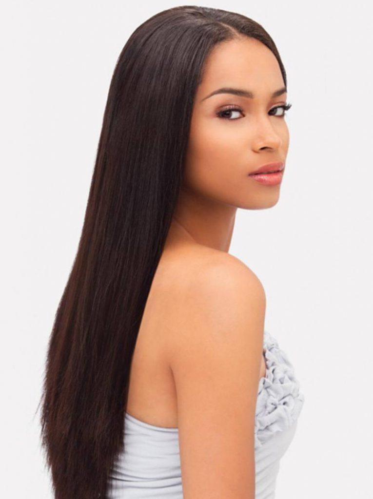 Прямые длинные волосы
