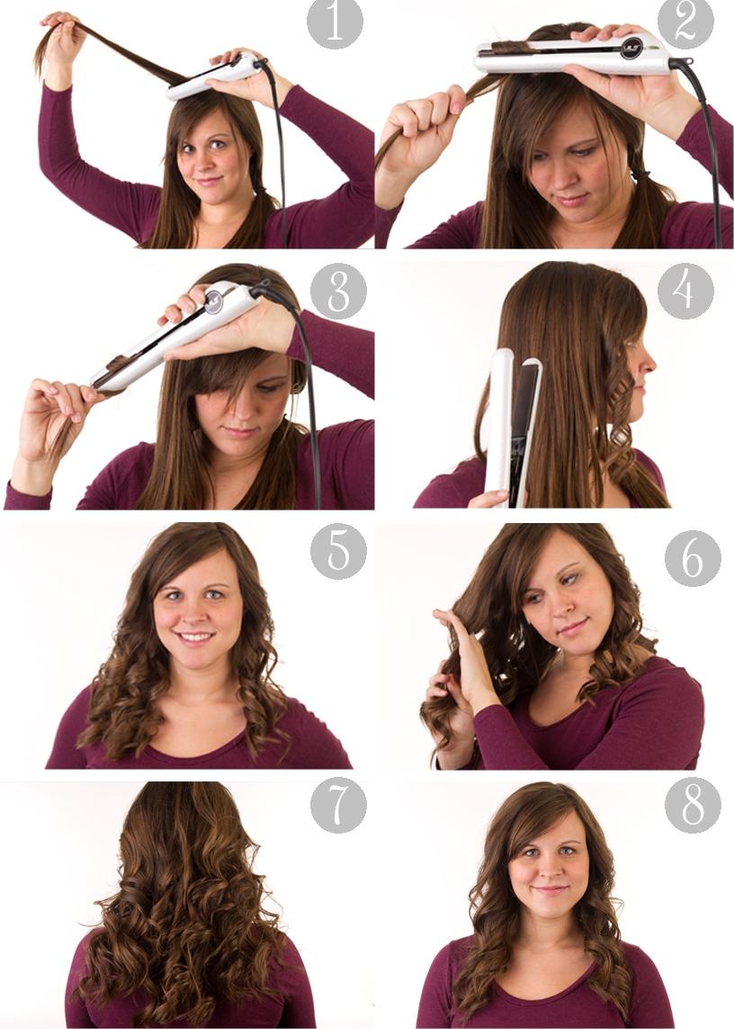 Причёски с помощью утюжка