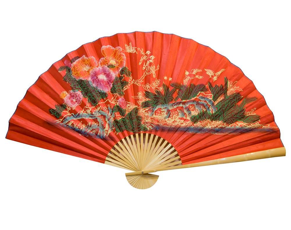 Красный японский веер