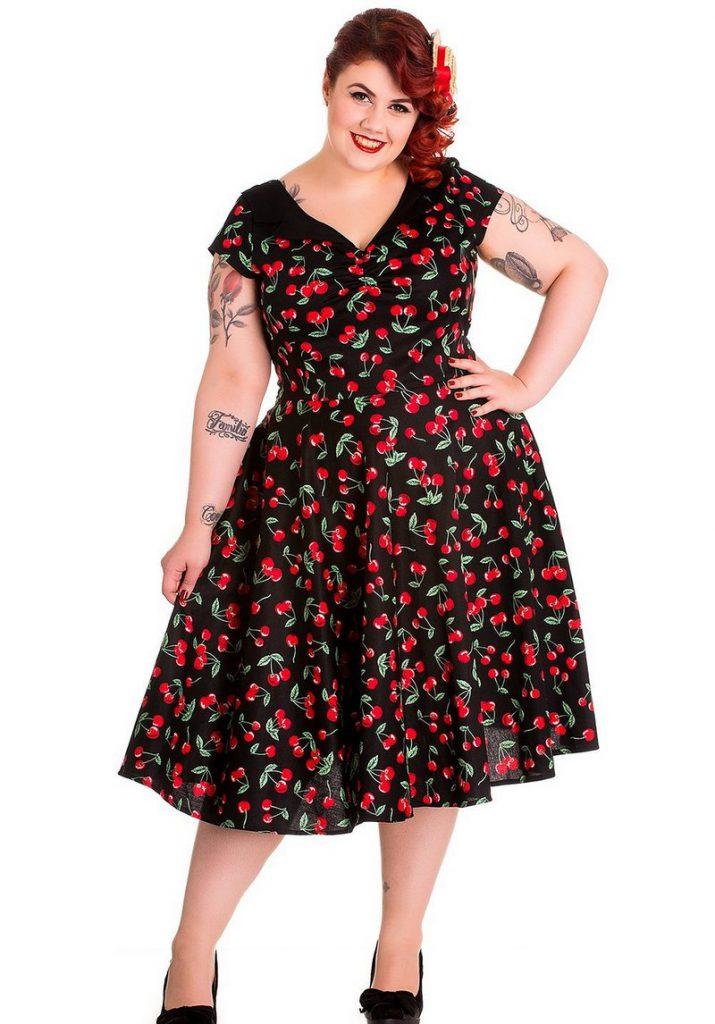 Платье с цветочным принтом в стиле 50 годов