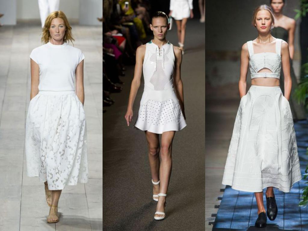 Белые женские платья