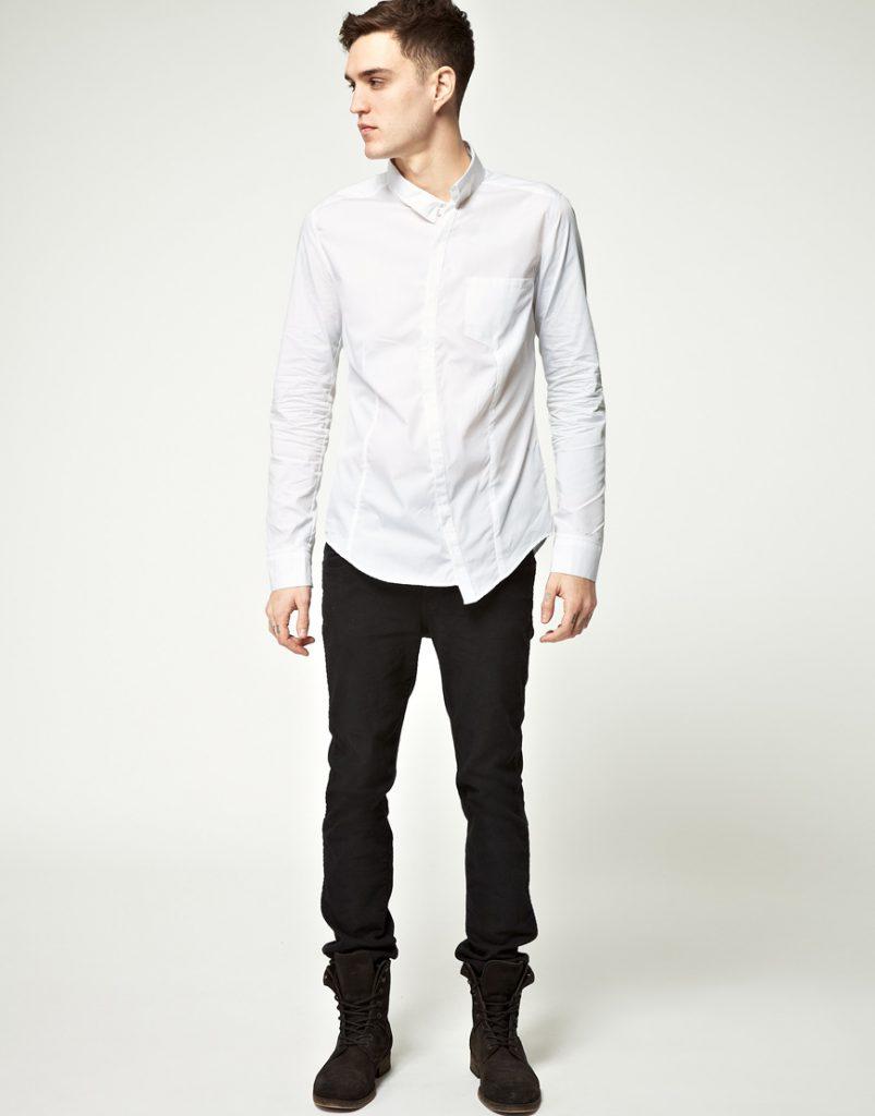 Черно-белый мужской наряд