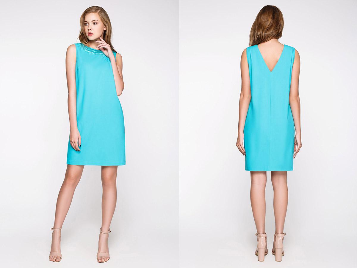 0189bb04c28 Модный бирюзовый цвет в одежде  красивые оттенки и сочетания ...