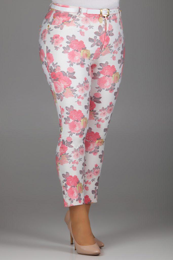 Цветочные брюки для полных девушек