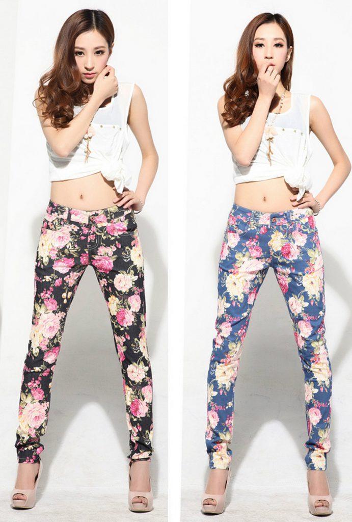 Цветочные брюки с топом