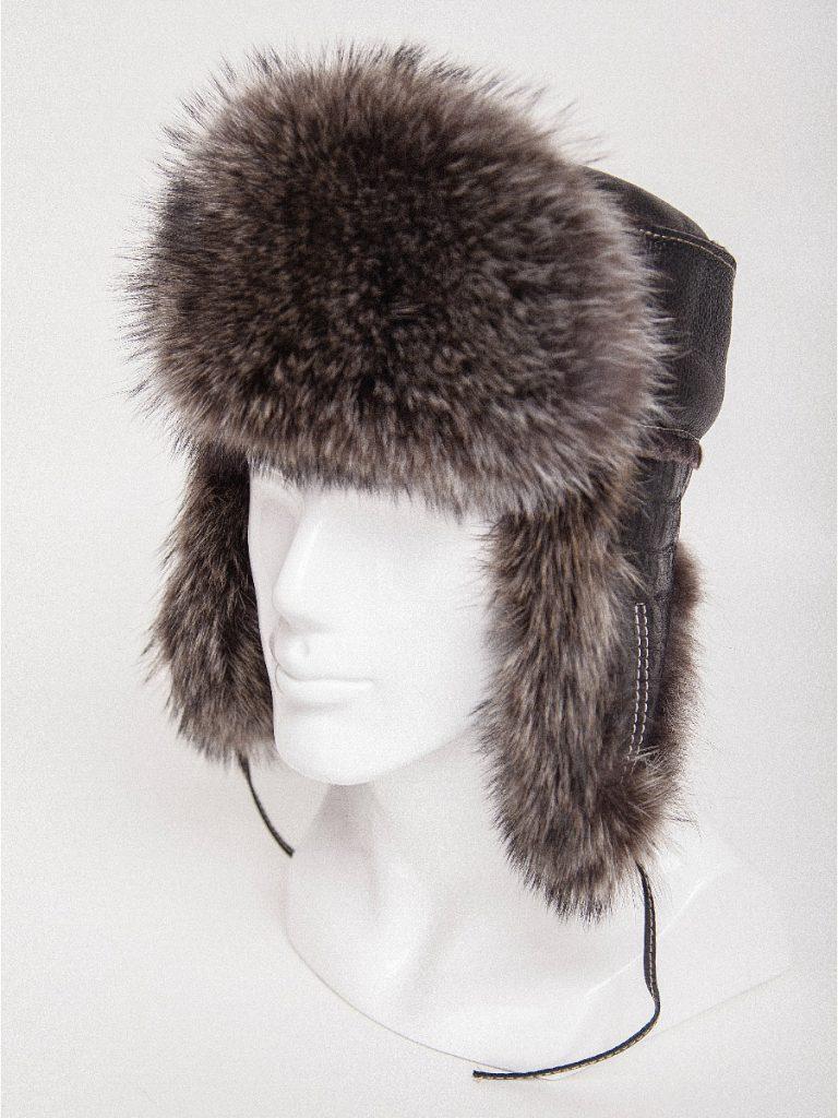 Меховая зимняя шапка мужская