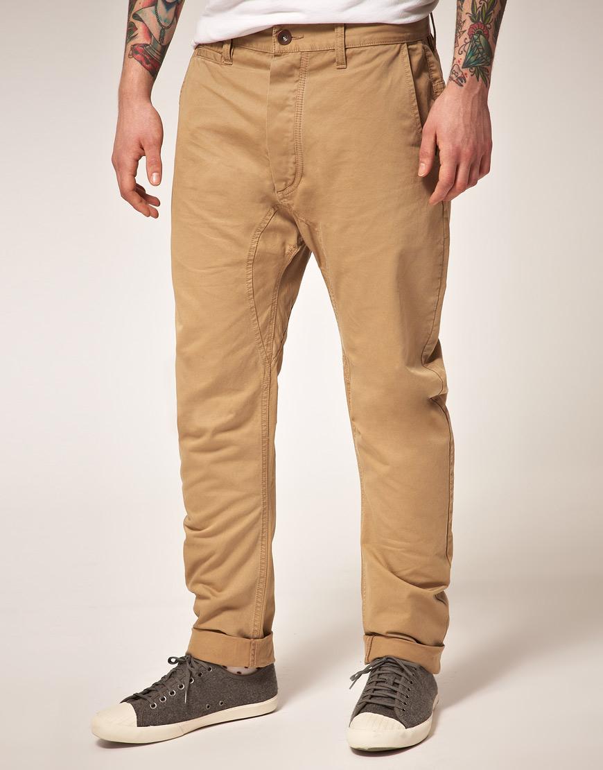 Мужские брюки бежевые