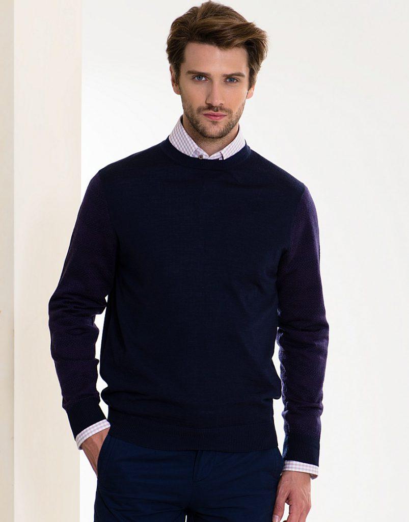 Фиолетовый легкий мужской джемпер