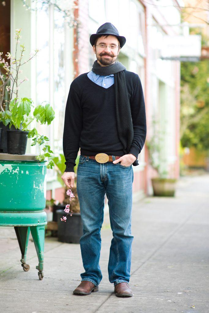 Черный мужской шарф