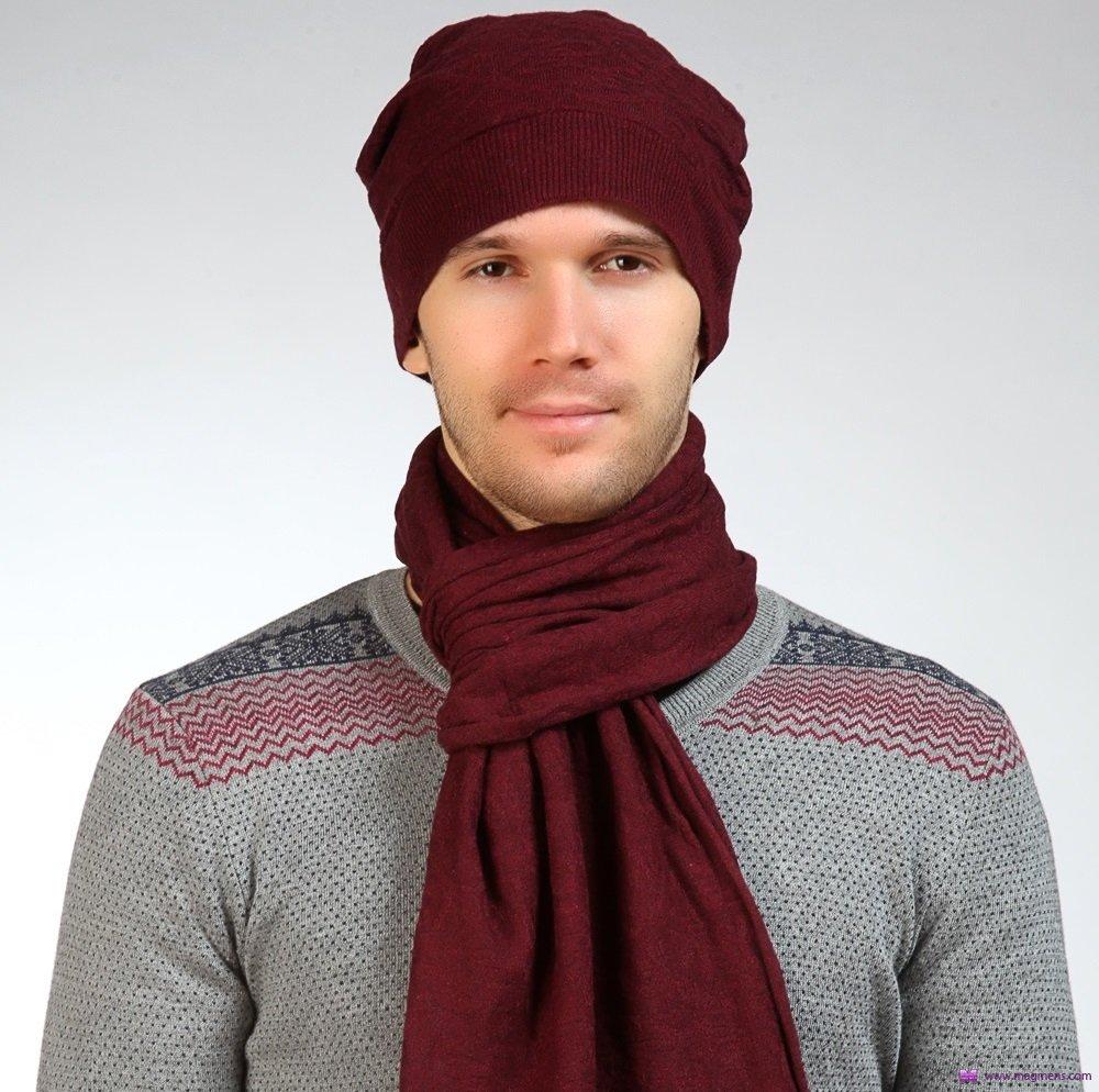 Красный мужской шарф