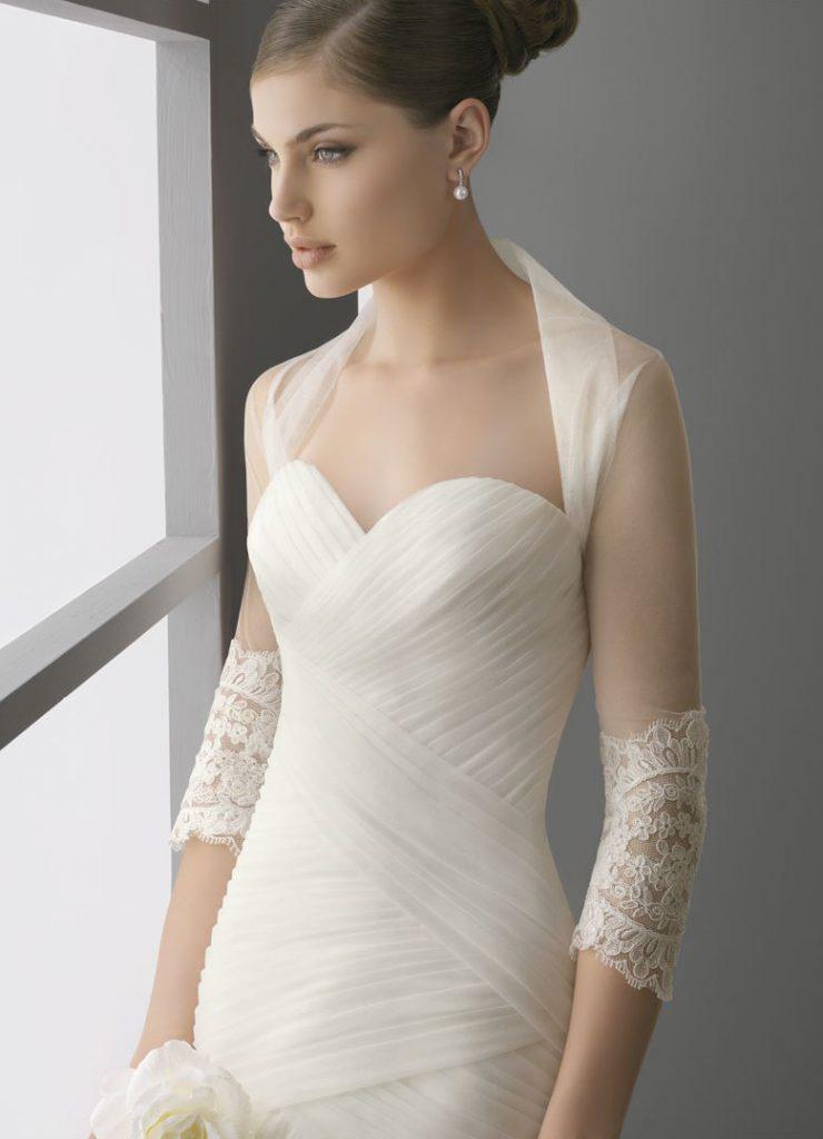 Прозрачная белая свадебная накидка