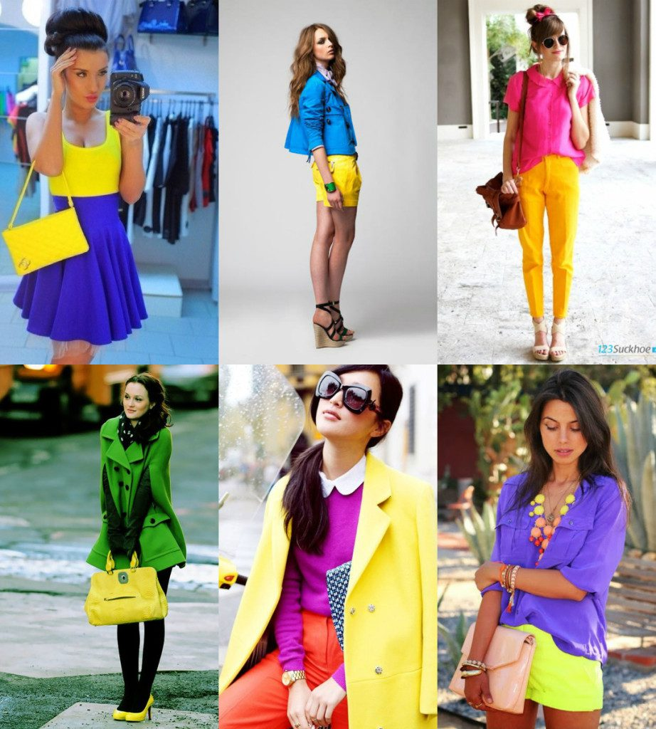 Яркие сочетания с желтым цветом в одежде
