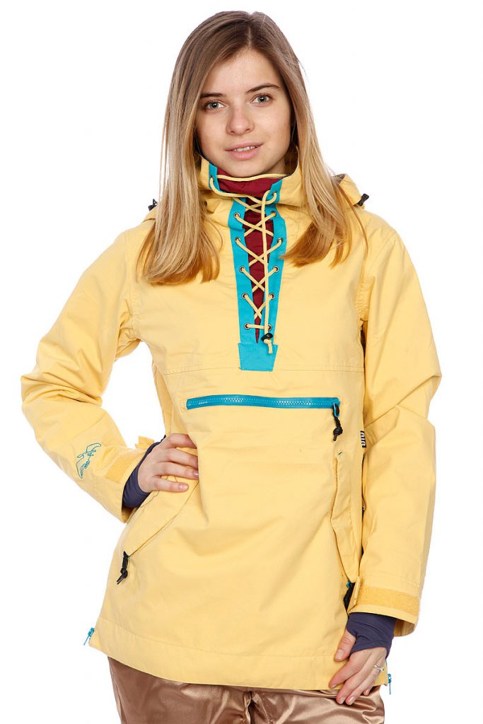 Желтый женский анорак