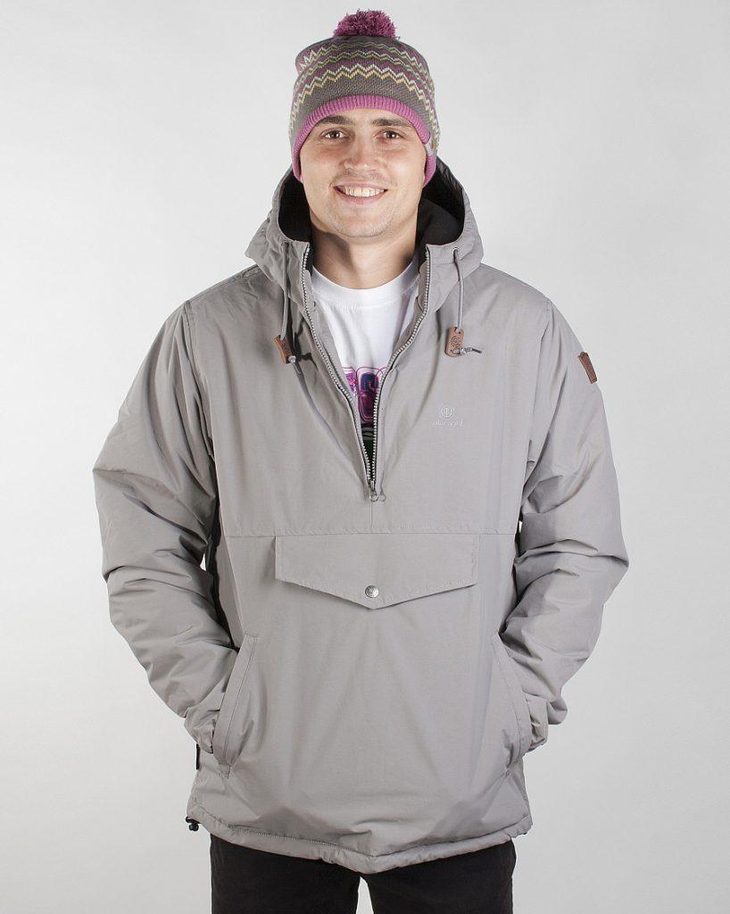 Серый зимний мужской анорак