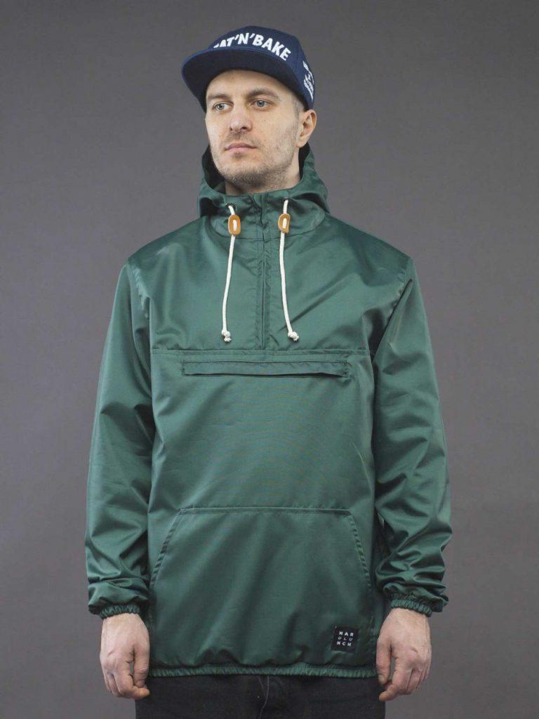 Зеленый мужской анорак