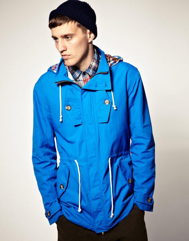 Синяя куртка мужская анорак