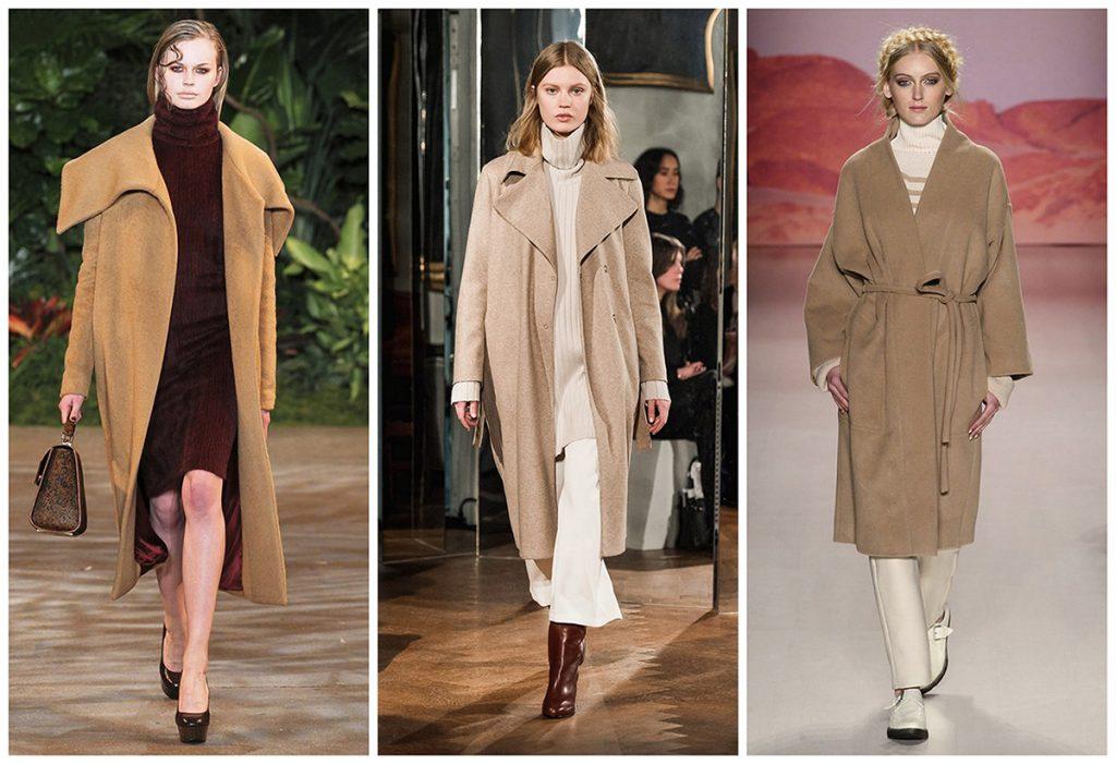 Варианты сочетаний бежевого пальто с одеждой