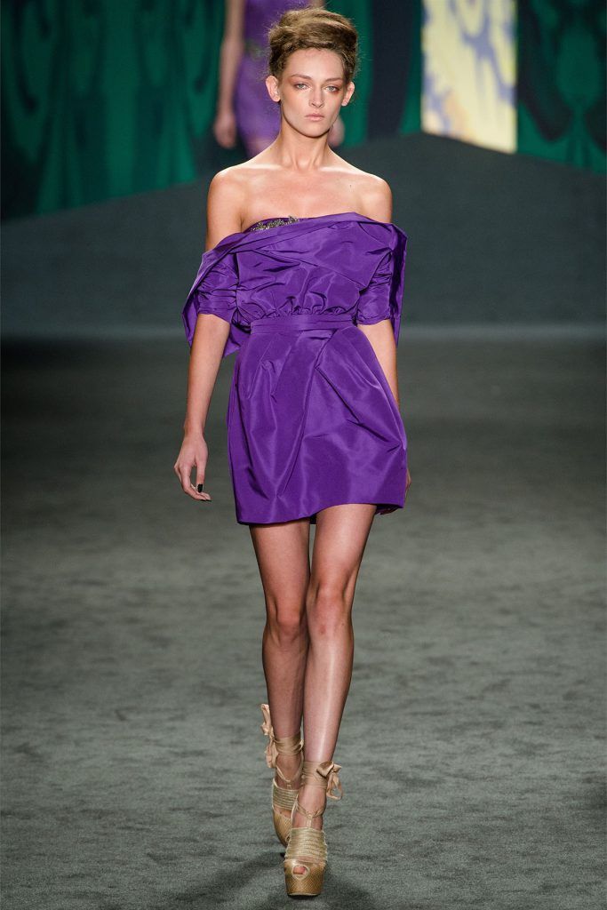 Коктейльное фиолетовое платье