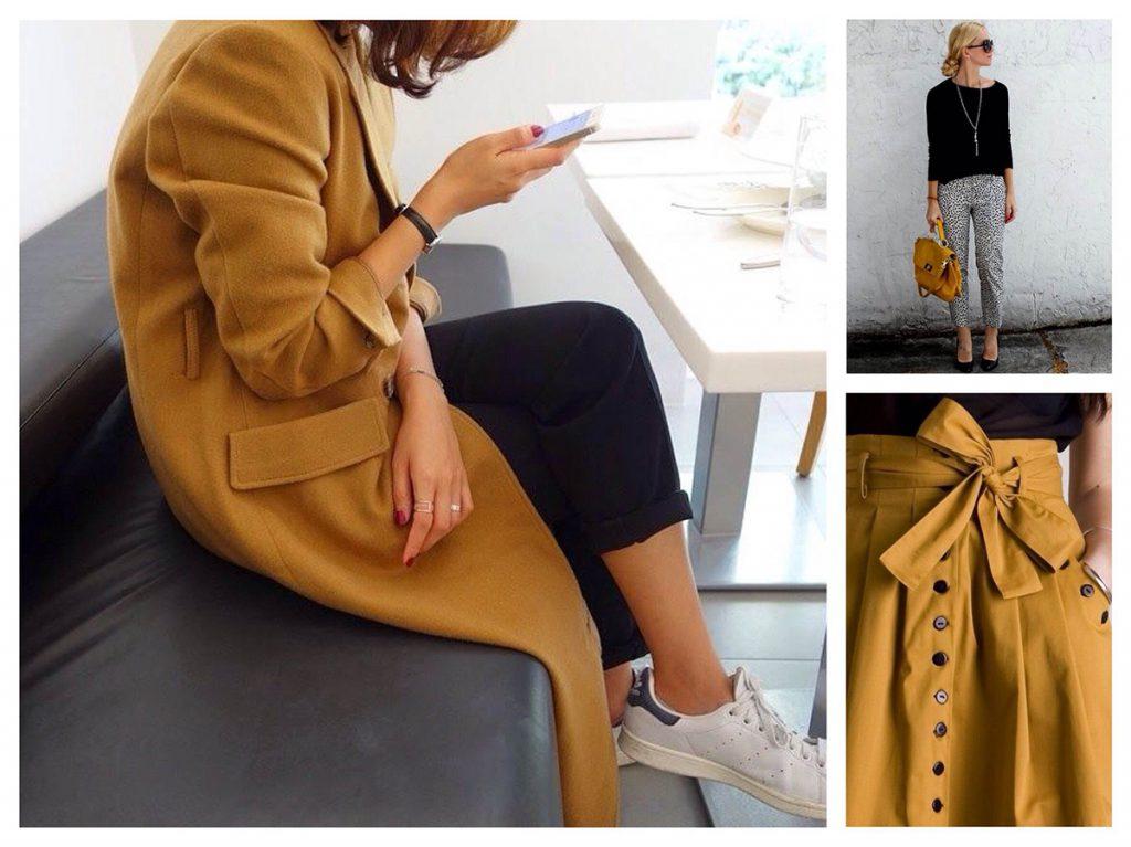 Сочетания горчичного цвета в одежде
