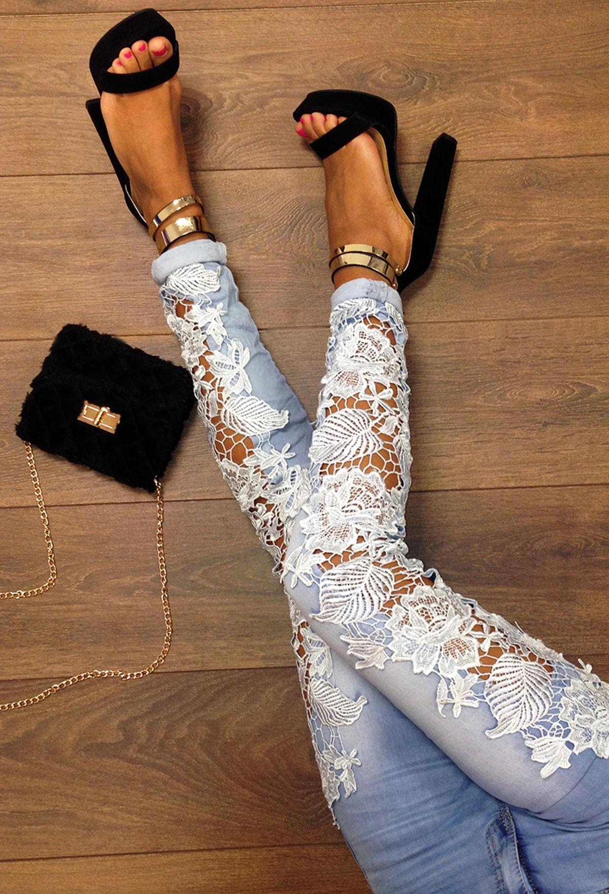 Декор на джинсах своими рукам