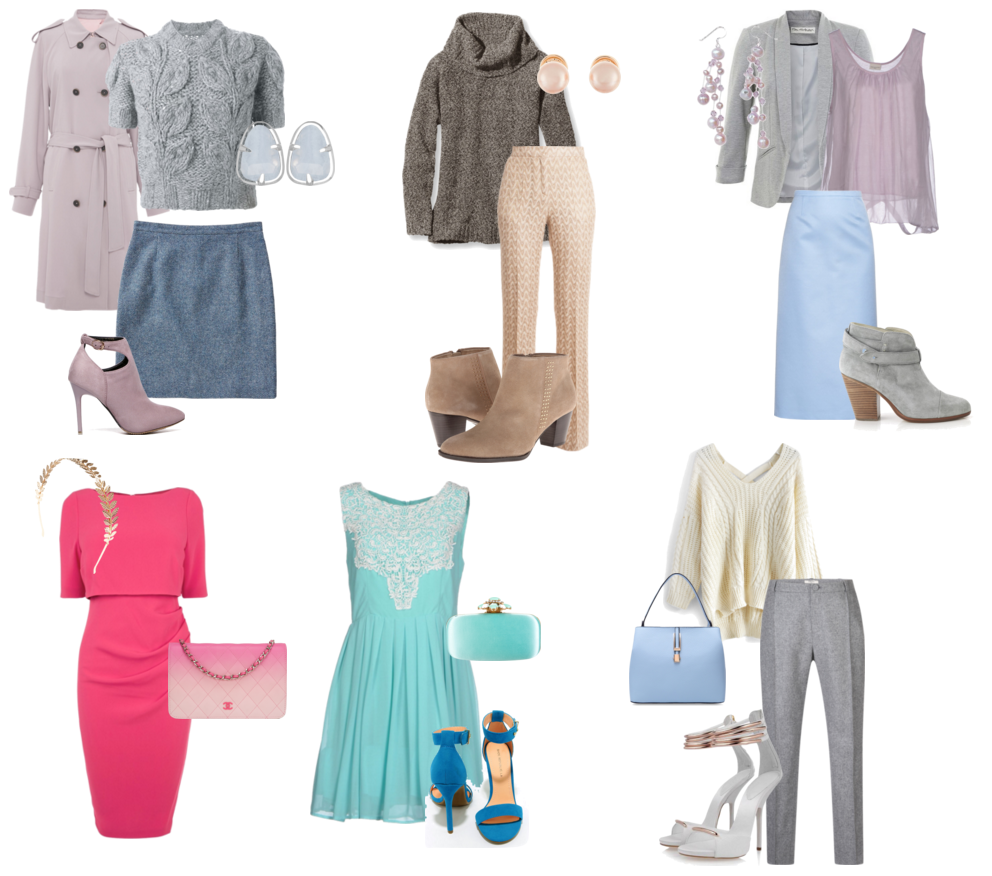 Вариант гардероба для цветотипа лето