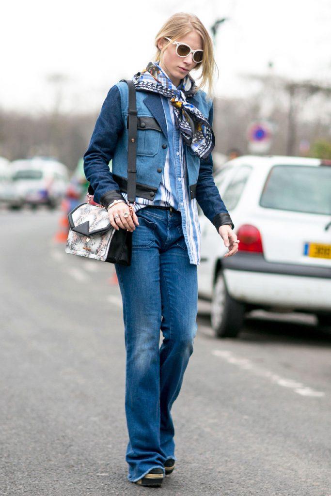 Модный джинсовый костюм