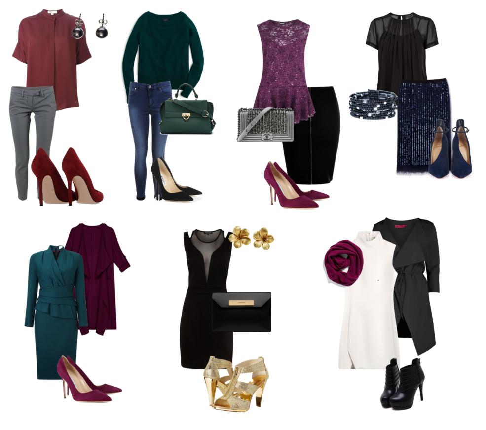 Вариант одежды для цветотипа зима