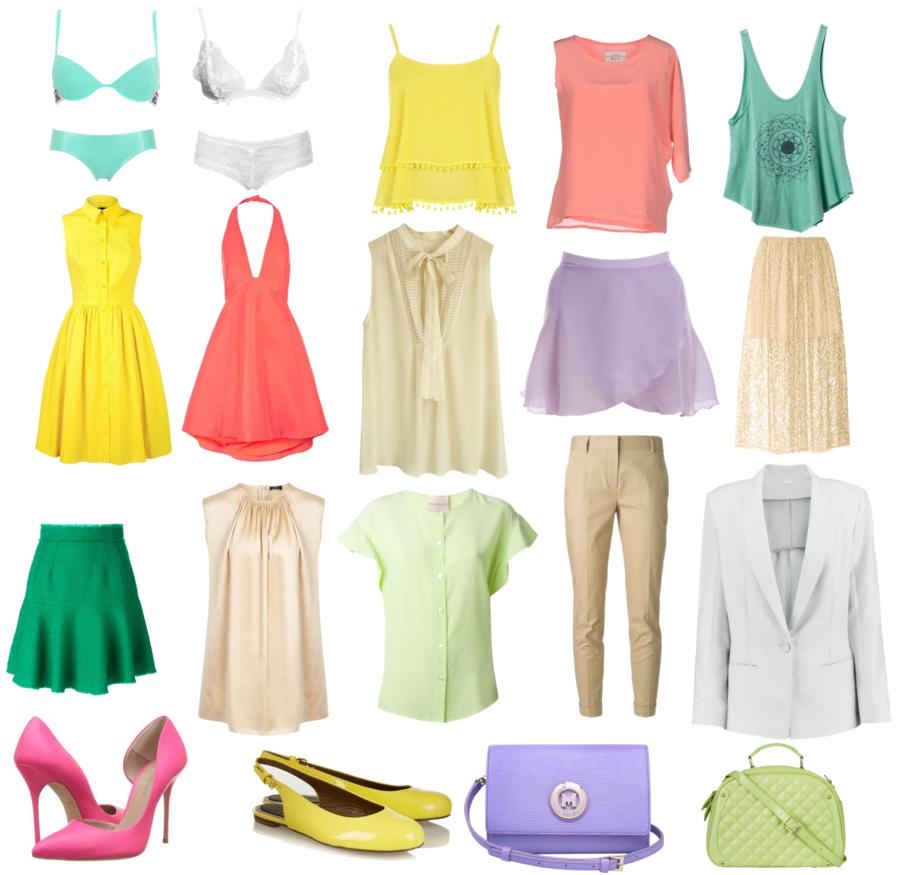 Яркая одежда для цветотипа весна