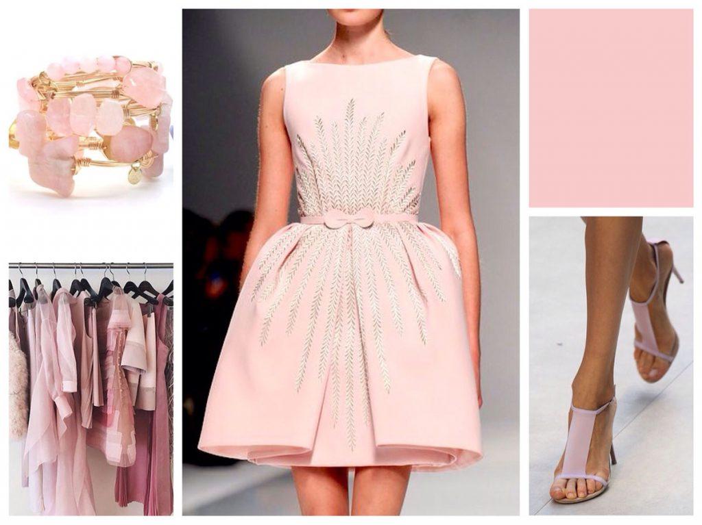 Бежево-розовый цвет в женских образах