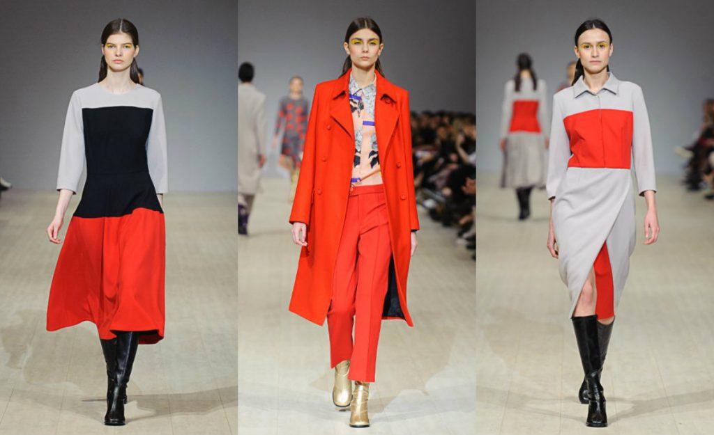 Красный и серый цвета в одежде