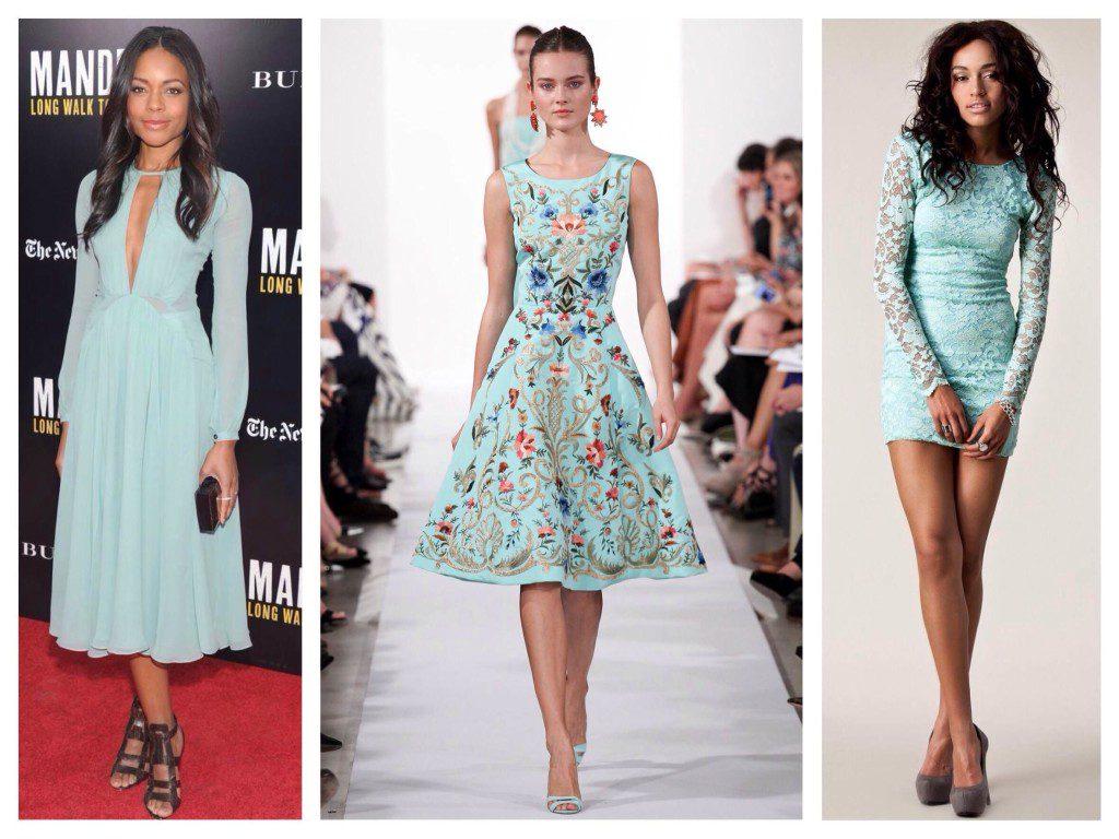 Модные мятные платья