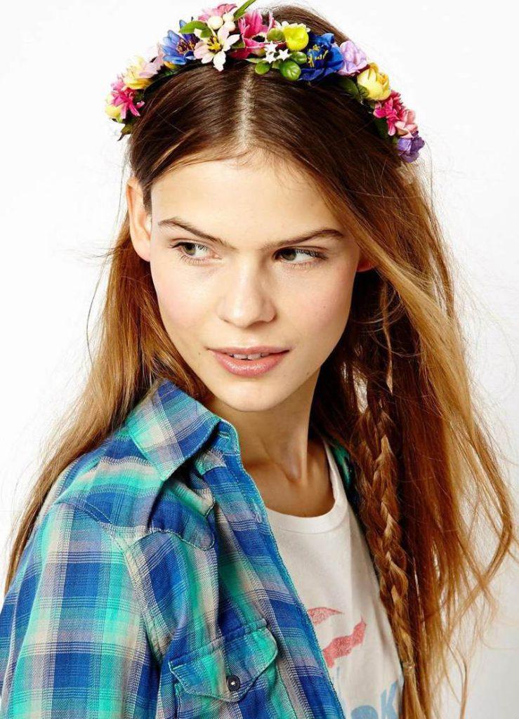Яркий летний цветочный ободок для волос