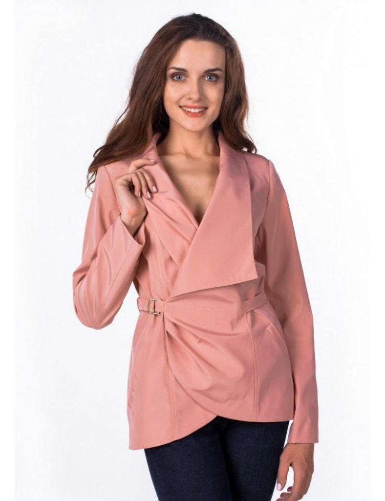 Куртка цвета чайной розы