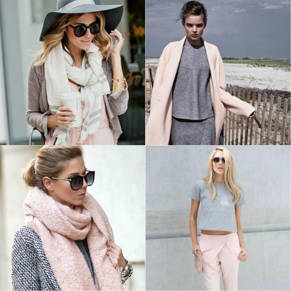 Серый и розовый цвета в одежде
